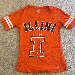 Small Illini T-shirt orange soft
